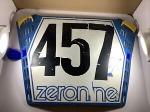 zeronine bmx number plate