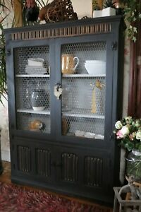 Farmhouse Solid Wood Kitchen display cabinet, bookcase