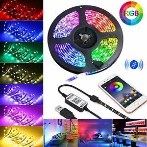 1-5M USB Bluetooth Music RGB LED Strip Light Waterproof Smart Phone APP Control