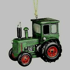 "BIRD HOUSE GREEN TRACTOR--- 7"" L x 6"" H x 5"" W  POLY RESIN"