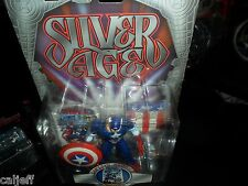 Marvel Comics Captain America silver age Figure +Avengers card EXCLUSIVE Toy Biz