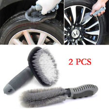 2PCS Autos Motorcycle Wheel Tire Rim Hub Cleaning Brush Wash Scrub Tools Decent