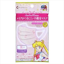 Sailor Moon Non-Woven Fabric Face Mask Creer Beaute 3 sheets x 1 pack New