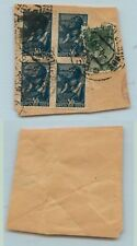 Russia Ussr 1944 Sc 735 736 used cover cut . d6911