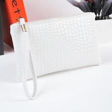 Big Sale Women Handbags Crocodile Leather Clutch Handbag Bag Coin Purse WH