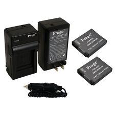 2 Battery + Charger Kit for Panasonic Lumix DMC-TS5 FT5 ZS30 ZS27 TZ37 TZ40 TZ41