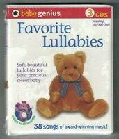 baby genius Favorite Lullabies 3 CDs 38 songs infant to 48 months vinyl case NEW