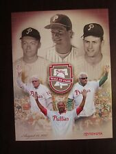 "Darren Daulton Green Bunning Phila Phillies Wall of Fame Poster 9"" x 12"" Mint"