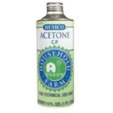 Humco Acetone Chemically Pure Liquid, 1 pint (2 Pack)