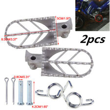 Motorcycle Stainless Steel Front Foot Peg Footrest fit for Honda Kawasaki