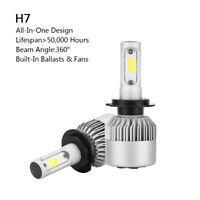2P H7 All-in-One LED Lámpara Faro Kit 72W 8000LM COB Bulbo 6000K Blanco BS6 A