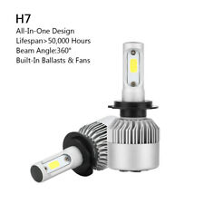 2P H7 All-in-One LED Lámpara Faro Kit 72W 8000LM COB Bulbo 6000K Blanco BS6 A