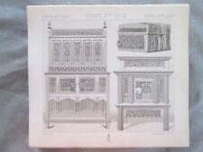 Vintage Print,MOBILIER APPARAT,CREDENCES,COFFRES,Costume,Historique,1888,Racinet