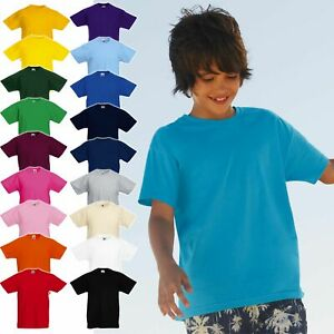 3er Pack Kinder T-Shirts, FRUIT OF THE LOOM Kids Valueweight Tee 61-033-0 * NEU