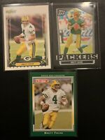 Brett Favre Green Bay Packers Rookie Debut x3 Card Lot (Shipped PWE)