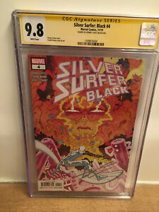 SILVER SURFER BLACK #4 CGC 9.8 FIRST PRINT BLACK WINTER CAMEO SIGNED DONNY CATES
