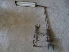 VINTAGE DAZOR DRAFTING LAMP / FLOATING LIGHT FIXTURE - CLAMP ON INDUSTRIAL 2134