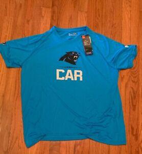 Carolina Panthers Under Armour Authentic Combine Lockup Tech Shirt NWT XL