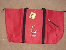 Tintin Large Beach Bag / Shopping Bag - Tintin and Snowy Design - Red - rf92