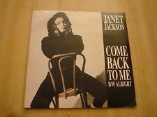 "JANET JACKSON-COME BACK TO ME (A&M 7"")"
