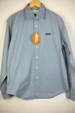 VINTAGE Mens YVES SAINT LAURENT Shirt Long Sleeve SLIM FIT TWILL Large GREY P55