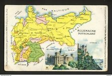 MAP OF ALLEMAGNE DUITSCHLAND - GERMANY