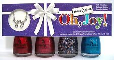 China Glaze OH, JOY! 5-pc Polish Set~81390,81391,81395,81395,81396 FREE NECKLACE