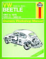 Volkswagen VW Beetle 1300 1500 65-75 Haynes Manual 0039