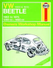 VOLKSWAGEN VW BEETLE 1300 1500 65-75 0039 Manuale Haynes