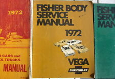 1972 CHEVROLET VEGA FISHER BODY SERVICE MANUAL ORIGINAL  EN ANGLAIS