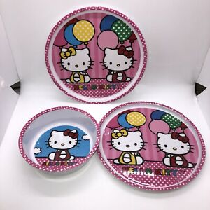 Hello Kitty Sanrio Plates and Bowl Lot