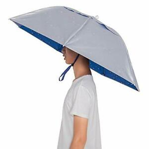 Umbrella Hat Hand Free with Tighten Clip Head Wear Polyester Plastic Fitness