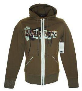 Bnwt Men's Oakley Tiled Stretch Zipped Hoodie Sweatshirt Jumper Slim Fit New