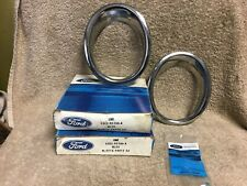 NOS FORD C5ZZ-5C299-A 1965-1966 MUSTANG GT EXHAUST TRIM RINGS