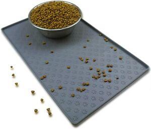GREY Puppy Dog Silicone Placemat Pet Cat Dish Bowl Feeding Food Water Mat UK