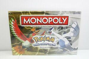 Monopoly Pokemon Johto Edition Board Game Hasbro 2016 New & Factory Sealed