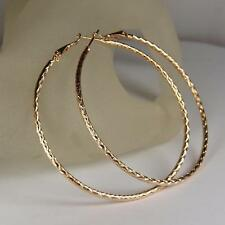 "9ct 9K "" Gold Filled "" 55mm Large Hoops Earring Mother Day Valentine Xmas E592A"