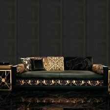 VERSACE GREEK KEY WALLPAPER 10m x 70cm - BLACK 935234
