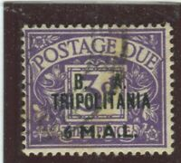 G.B. Offices - Tripolitania Stamps #J9 Used,Fine (X5837N)
