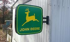 John Deere Lighted Sign Double Sided W/Wall Mount