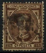 Spain 1867-7, 25c Brown Used #D44200