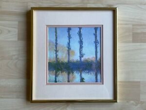 After Claude Monet Offset Lithograph Print the Four Trees From the Poplar Series