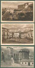 Calabria. CASTROVILLARI, Cosenza. Tre cartoline d'epoca viaggiate nel 1917-1930.
