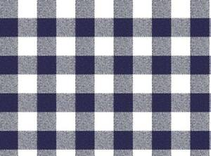 Tablecloth by the Metre Oilcloth Washable Check Blue