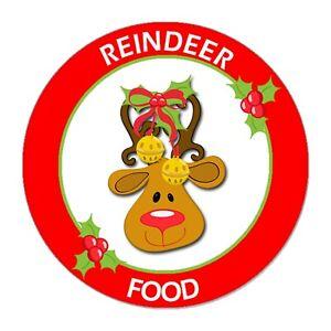 24/48 Magic Reindeer Christmas Food Stickers Labels  School  Fund Raising Fair