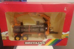 Rare Orange Britains FMV2000 Log Transporter Trailer Rainbow Boxed 9533