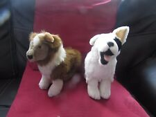 2 COLLECTABLE SOFT PLUSH DOG PROMOTIONAL TOYS FROM PEDIGREE CHUM DOG FOOD