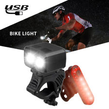 8000 Lumen Rechargeable Mountain Bike Lights Bicycle Torch Front & Rear Lamp Set