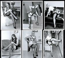 Housewives In Nylons Postcard Set 1 Pin-Up Stockings Glamour Sexy Ladies Retro