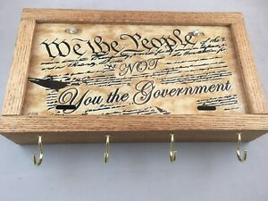 GUN CONCEALMENT BOX FURNITURE WE THE PEOPLE NOT YOU THE GOVERNMENT LICENSE /DIY